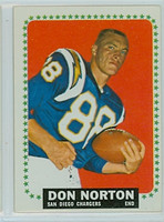 1964 Topps Football 169 Don Norton Single Print San Diego Chargers Excellent