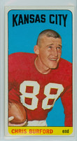 1965 Topps Football 96 Chris Burford Single Print Kansas City Chiefs Excellent to Excellent Plus