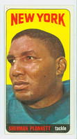 1965 Topps Football 125 Sherman Plunkett New York Jets Excellent