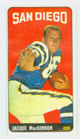 1965 Topps Football 167 Jacques MacKinnon San Diego Chargers Excellent to Excellent Plus