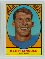 1967 Topps Football 15 Keith Lincoln Buffalo Bills Excellent to Mint