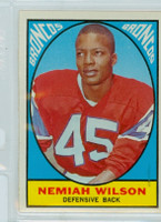 1967 Topps Football 30 Nemiah Wilson Denver Broncos Excellent to Excellent Plus
