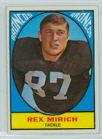 1967 Topps Football 32 Rex Mirich Denver Broncos Very Good to Excellent