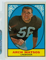 1967 Topps Football 37 Arch Matsos Denver Broncos Excellent