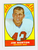 1967 Topps Football 52 Jim Norton Houston Oilers Excellent to Mint