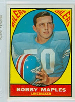 1967 Topps Football 53 Bobby Maples Houston Oilers Excellent to Mint