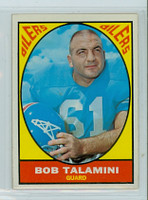 1967 Topps Football 54 Bob Talamini Houston Oilers Excellent to Mint