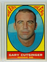 1967 Topps Football 56 Gary Cutsinger Houston Oilers Excellent to Excellent Plus