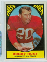 1967 Topps Football 62 Bobby Hunt Kansas City Chiefs Excellent to Mint