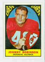 1967 Topps Football 65 Johnny Robinson Kansas City Chiefs Excellent to Mint