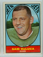 1967 Topps Football 92 Sam DeLuca New York Jets Excellent to Mint