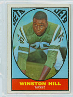 1967 Topps Football 95 Winston Hill New York Jets Very Good to Excellent