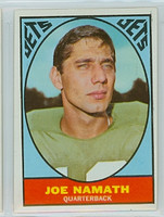 1967 Topps Football 98 Joe Namath New York Jets Excellent to Mint