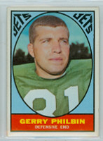 1967 Topps Football 99 Gerry Philbin New York Jets Very Good to Excellent