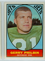 1967 Topps Football 99 Gerry Philbin New York Jets Excellent to Mint