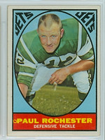1967 Topps Football 100 Paul Rochester New York Jets Excellent