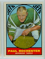 1967 Topps Football 100 Paul Rochester New York Jets Excellent to Excellent Plus