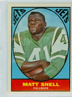 1967 Topps Football 102 Matt Snell New York Jets Excellent to Mint