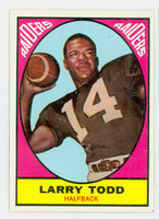 1967 Topps Football 108 Larry Todd Oakland Raiders Excellent to Mint