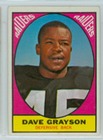 1967 Topps Football 111 Dave Grayson Oakland Raiders Excellent