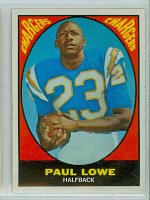 1967 Topps Football 121 Paul Lowe San Diego Chargers Excellent