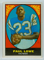 1967 Topps Football 121 Paul Lowe San Diego Chargers Excellent to Excellent Plus