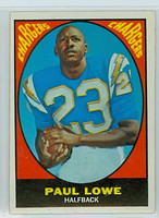1967 Topps Football 121 Paul Lowe San Diego Chargers Excellent to Mint