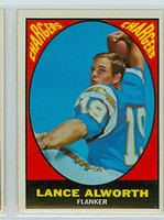 1967 Topps Football 123 Lance Alworth San Diego Chargers Excellent to Excellent Plus