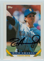 Rich Amaral AUTOGRAPH 1993 Topps Mariners 