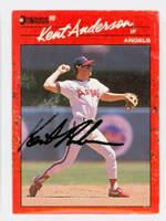 Kent Anderson AUTOGRAPH 1990 Donruss Angels 