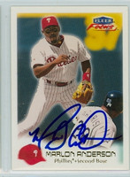Marlon Anderson AUTOGRAPH 2000 Fleer Focus Phillies 
