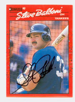 Steve Balboni AUTOGRAPH 1990 Donruss Yankees 