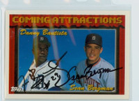 Danny Bautista DUAL SIGNED 1994 Topps Tigers Prospects 