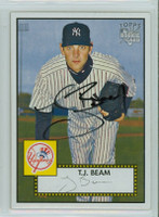 T.J. Beam AUTOGRAPH 2006 Topps 1952 Topps Edition Yankees 