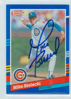 Mike Bielecki AUTOGRAPH 1991 Donruss Cubs 