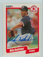 Mike Boddicker AUTOGRAPH 1990 Fleer Red Sox 