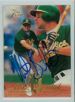 Mike Bordick AUTOGRAPH 1994 Fleer Flair Athletics 