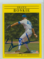 Shawn Boskie AUTOGRAPH 1991 Fleer Cubs 