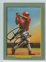 Michael Bourn AUTOGRAPH 2006 Topps Phillies Turkey Red 