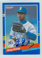 Greg Briley AUTOGRAPH 1991 Donruss Mariners 