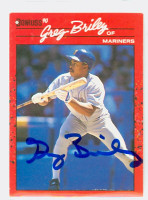 Greg Briley AUTOGRAPH 1990 Donruss Mariners 