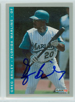 Greg Briley AUTOGRAPH 1993 Fleer Marlins Final Edition 