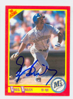 Greg Briley AUTOGRAPH 1990 Score Mariners 