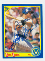 Greg Brock AUTOGRAPH 1990 Score Brewers 