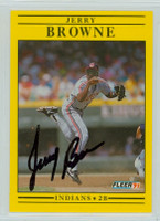 Jerry Browne AUTOGRAPH 1991 Fleer Indians 