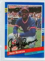 Jerry Browne AUTOGRAPH 1991 Donruss Indians 