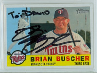 Brian Buscher AUTOGRAPH 2009 Topps Heritage 1960 Topps Design Twins PERS