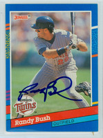 Randy Bush AUTOGRAPH 1991 Donruss Twins 