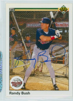 Randy Bush AUTOGRAPH 1990 Upper Deck Twins 