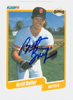 Brett Butler AUTOGRAPH 1990 Fleer Giants 